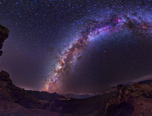 The starry sky of Gran Canaria in the greetings of UNESCO